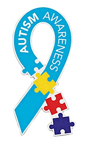 - Autism Awareness Multi Color Puzzle Piece Car Magnet