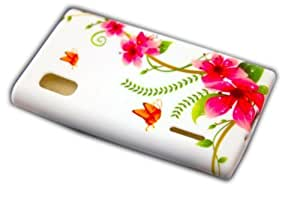 Concha protectora caso de la mariposa LG E610 Optimus L5 SILICIO cubierta del caso de la cubierta de la placa frontal