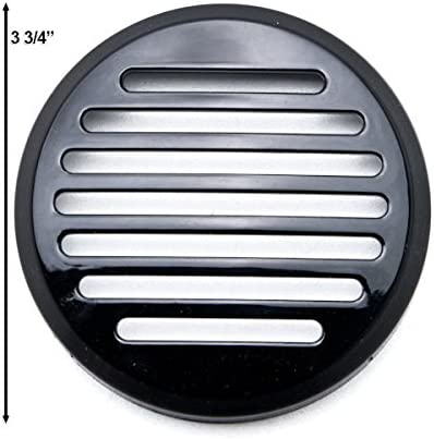 Krator 3.5 Round Horn Black Horn Cover For Honda Motorcycle Cruisers Shadow Sabre Motorcycle Cruiser Round Horn Black Horn Cover