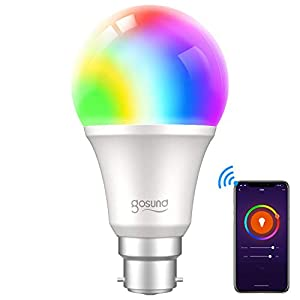 Smart Bulb, Gosund Alexa Light Bulbs 800Lm B22 75W LED Dimmable Wi-Fi RGB Color Smart Light Bulbs Work with Alexa…