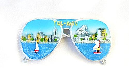 Souvenir Fridge Magnet Tel Aviv Israel Sunglasses - Israel Sunglasses