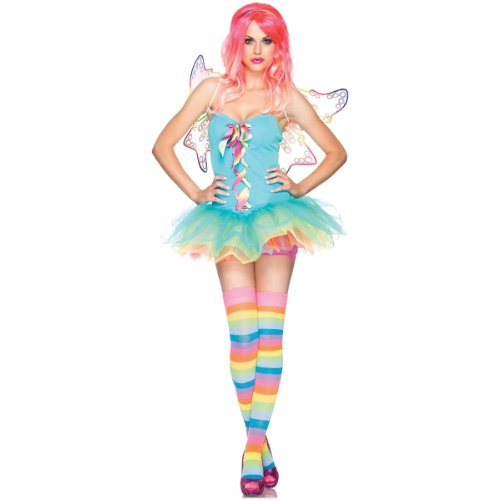 Leg Avenue Women's 3 Piece Rainbow Fairy Costume, Multicolor, Small -