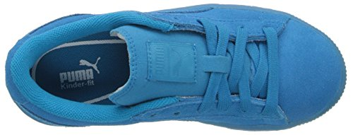 Puma Blue Black White Risked Youths Suede White Trainers High Atomic r8RqZr