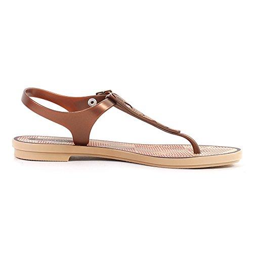 8 Grendha Sandal 8 Bronze Toe Bronze Romantic Plastic Buckle Post Size Women's UqrUz