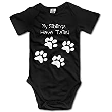 Baby Onesie My Siblings Have Tails Funny Sleepwear Clothes Bodysuit