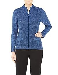 Plus Textured Knit Mock Neck Zip Cardigan DnmTwist 2X