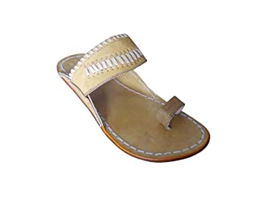 8f854e8f3 Kalra Creations Jutti Indian Handmade Leather Men Shoes Slippers Ethnic  Flip-Flops Flat 6 M