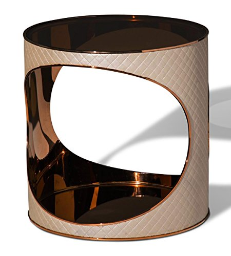 Michael Amini FS-SOEPS222 Solar Eclipse Chair Side Table by Michael Amini