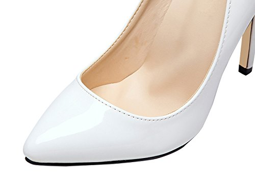 Party Toe Stiletto on White Slip CAMSSOO Women's Dress Pumps Shoes Basic Pointed Sexy Wedding fwvwtqH