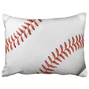 Capsceoll sports baseball pillow Decorative Throw Pillow Case 20X26Inch,Home Decoration Pillowcase Zippered Pillow Covers Cushion Cover with Words for Book Lover Worm Sofa Couch