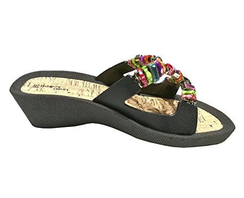 nero Donna Pantofole Scarpa Linea Nero Santorin vz8nO