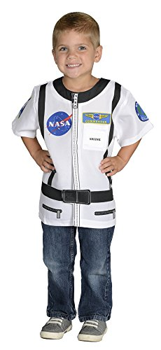 Aeromax My 1st Career Gear Astronaut with NASA logo, White, Easy to put on shirt fits most ages 3 to 6