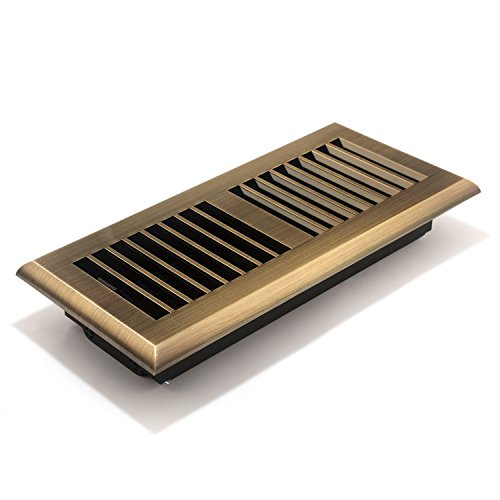 Accord APFRABL410 Plastic Floor Register with Louvered Design, 4-Inch x 10-Inch(Duct Opening Measurements), Antique Brass Finish