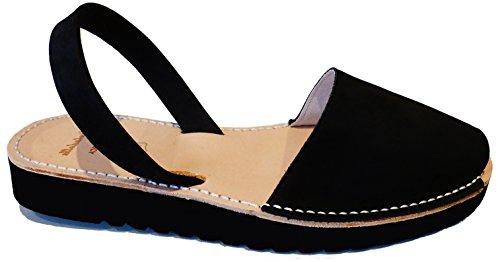 Avarcas mit menorcan 2 MENORQUINAS Nobuck Ferse Sandalen Negro Keil 5 cm Sandalen verschiedene … Clogs Farben dafwwxt