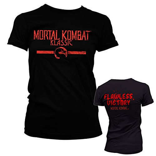 Officially Licensed Merchandise Mortal Kombat Klassic Girly Tee (Black), X-Large (Women Of Mortal Kombat)
