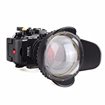 EACHSHOT 40M/130f Underwater Waterproof Camera Housing Diving Case for Sony DSC RX100 IV RX100 M4 + Red Filter 67mm + 67mm Fisheye Lens