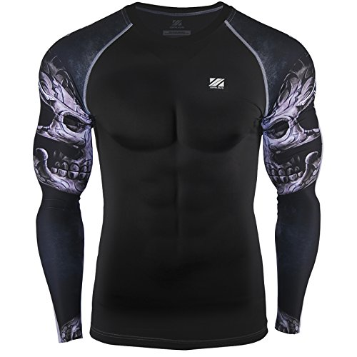 zipravs Layer MMA Running Compression Shirt Long Sleeve – DiZiSports Store