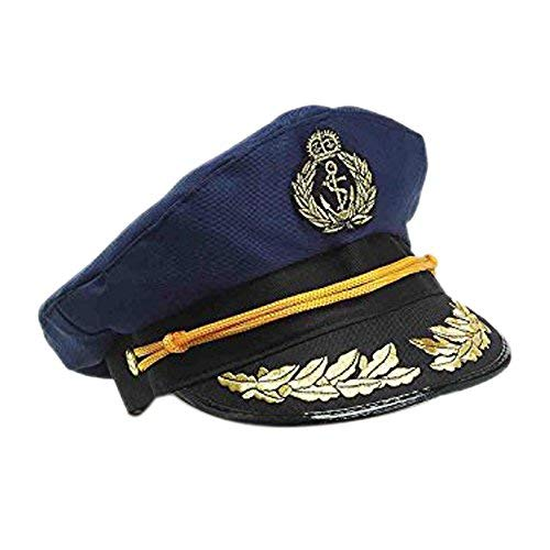 Forum Novelties Yacht Captains Hat for Adults, Navy Blue