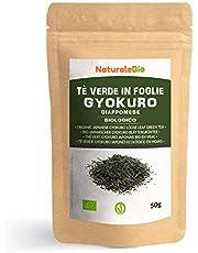 Biologische Japanse Groene Thee Gyokuro 50 gram. 100% Bio, Natuurlijke en Zuivere Groene Thee van de Eerste Pluk, Geteeld in Japan. Organic Japanese Gyokuro Green Tea. NaturaleBio