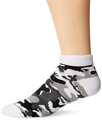 K. Bell Socks Men's Sports Camo Low Cut Sock, White, 10-13/Shoe size 6-12