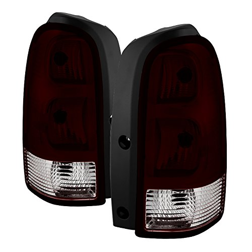 (VIPMOTOZ For 2005-2009 Chevy Uplander Pontiac Montana OE-Style Smoke Red Lens Tail Light Housing Lamp Assembly Replacement Driver & Passenger Side)