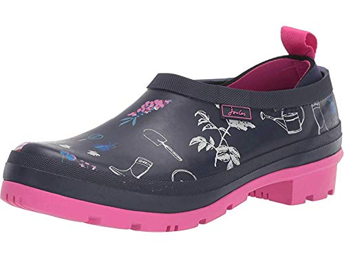 Joules Womens Printed Pop On Welly Clogs, Navy Garden, Size ()