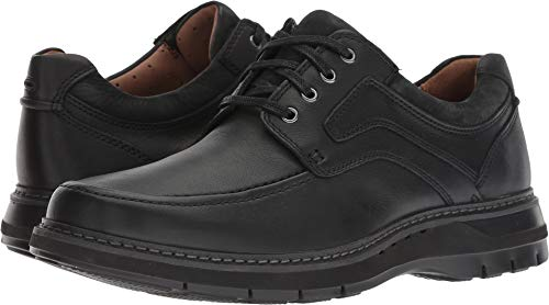 CLARKS New Men's Un Ramble Lace Oxford Black Tumbled Leather 9 W