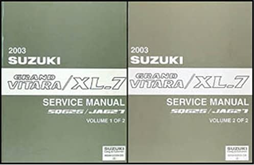 2003 suzuki grand vitara xl 7 repair shop manual set original rh amazon com 2008 Suzuki XL7 2005 Suzuki XL7