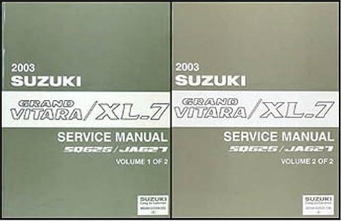 2003 suzuki grand vitara xl 7 repair shop manual set original rh amazon com suzuki grand vitara service manual suzuki grand vitara service manual