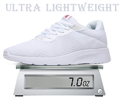 MAITRIP Mens Gym Shoes,Athletic Running Shoes,Lightweight Breathable Mesh Casual Tennis Sports Workout Walking Sneakers,All White,Size 11
