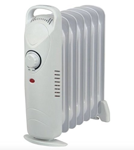 234eea91ac3 MINI COMPACT HEATER OIL FILLED RADIATOR PORTABLE ELECTRIC THERMOSTAT 700W 7  Fin  Amazon.co.uk  Kitchen   Home