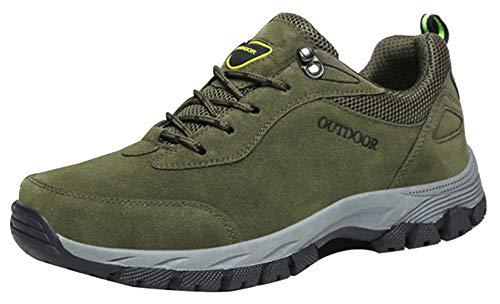 Verte De Chaussures Sécurité Casual Armée Marche Randonnée Sport Homme Insun Basses Baskets pxwP50