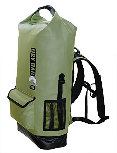 Tour Bags 30l Dry Bag Waterproof Backpack for Men | Rolltop Backpacks Internal Storage | Quick Dry Padded Back and Shoulder Straps with Chest Waist Support | Splash Proof Water Resistant Front Pocket