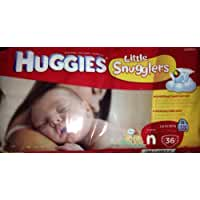 Huggies Little Snugglers Diapers, Newborn, 36 Count (Pack of 3)