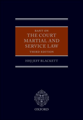 Download Rant on the Court Martial and Service Law Pdf
