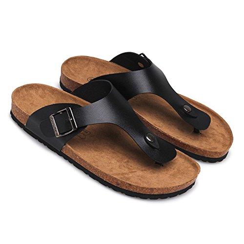 Moda de verano mujer zapatillas, chanclas y sandalias de playa, zapatillas antideslizante,37,gris