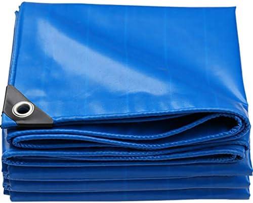 ANUO 防水ターポリン 厚くカーターポリン日焼け止め防雨耐摩耗性防水キャンバスシェード 防雨布 (Color : Blue, Size : 33x33ft/10x10m)