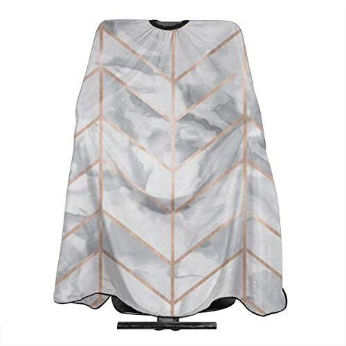 (TaaoZong Marble Herringbone Rose Gold Gilt Design Professional Hair Salon Cape with Snap Closure - Haircut Apron - 55