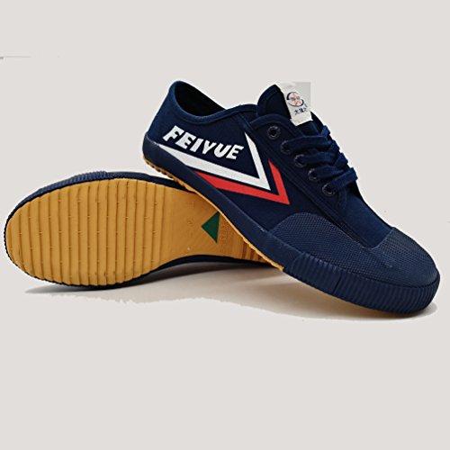 Top one Feiyue Kungfu shoes For women and men darkblue (38 (Men's 6))