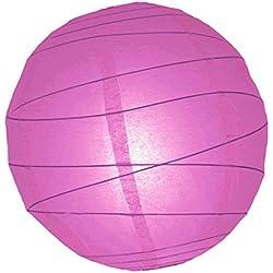 "WGI 16"" Violet Free-Style Ribbed Paper Lantern (Set of 2)"