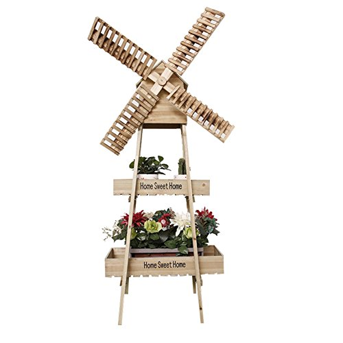 Windmill flower racks/art,[rural],solid wood,rotating windmill flower racks/floor layer showy-A by SHDUAYGSCXS (Image #2)