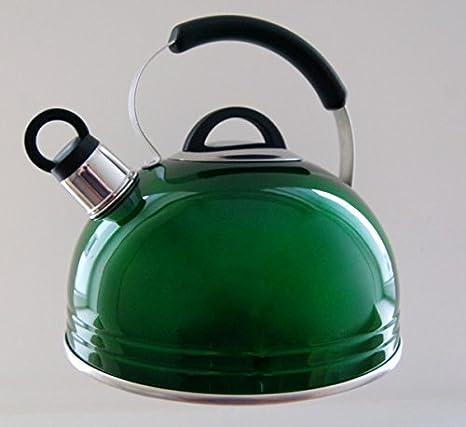 Aluminio hervidor de agua 3L verde cocina de gas estufa eléctrica estilo casa cocina: Amazon.es: Hogar
