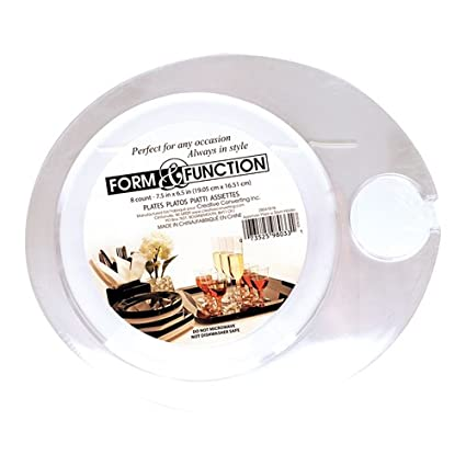 Disposable Plastic Wine Holder Plates - Clear  sc 1 st  Amazon.com & Amazon.com: Disposable Plastic Wine Holder Plates - Clear: Kitchen ...