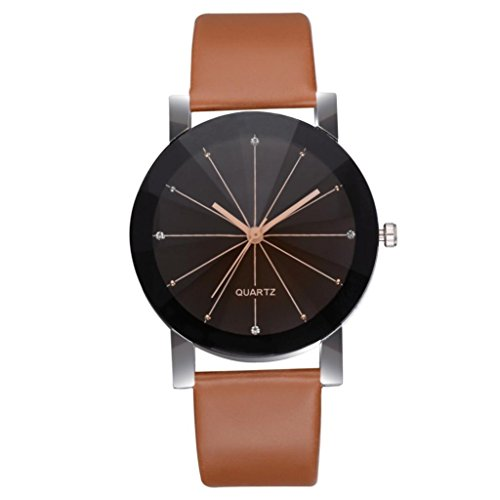 Movement Brown Dial (Charberry Women's Casual Quartz Leather Band Newv Strap Watch Analog Wrist Watch Brown)