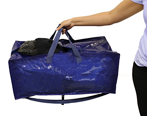 Earthwise heavy duty extra large storage bag moving tote for Ikea luggage cart