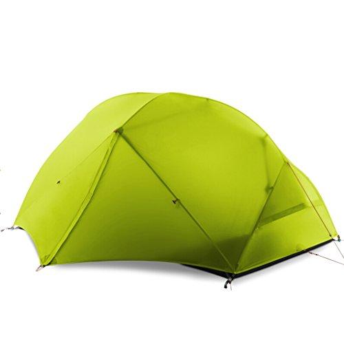 青写真資格トイレテント屋外2人キャンプテントダブルアルミロッド季節3シーズン防水キャンプ野生 (色 : 緑)