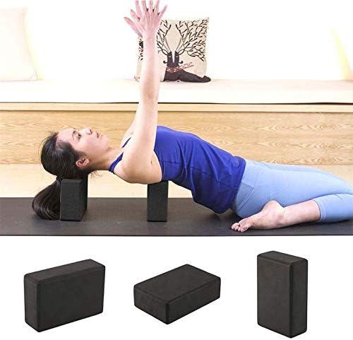 Nero 23x15x8cm Pratica Palestra Attrezzo Sport Palestra Blocco Yoga Schiuma schiumogena Attrezzo per Esercizi a casa Esercizio Fitness CamKpell Yoga Brick