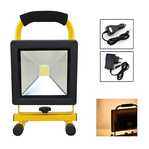 fsders Batería LED proyectores Edificio Lámpara Que acampa WasserdichtTragbare focos (20 w Warmwei)