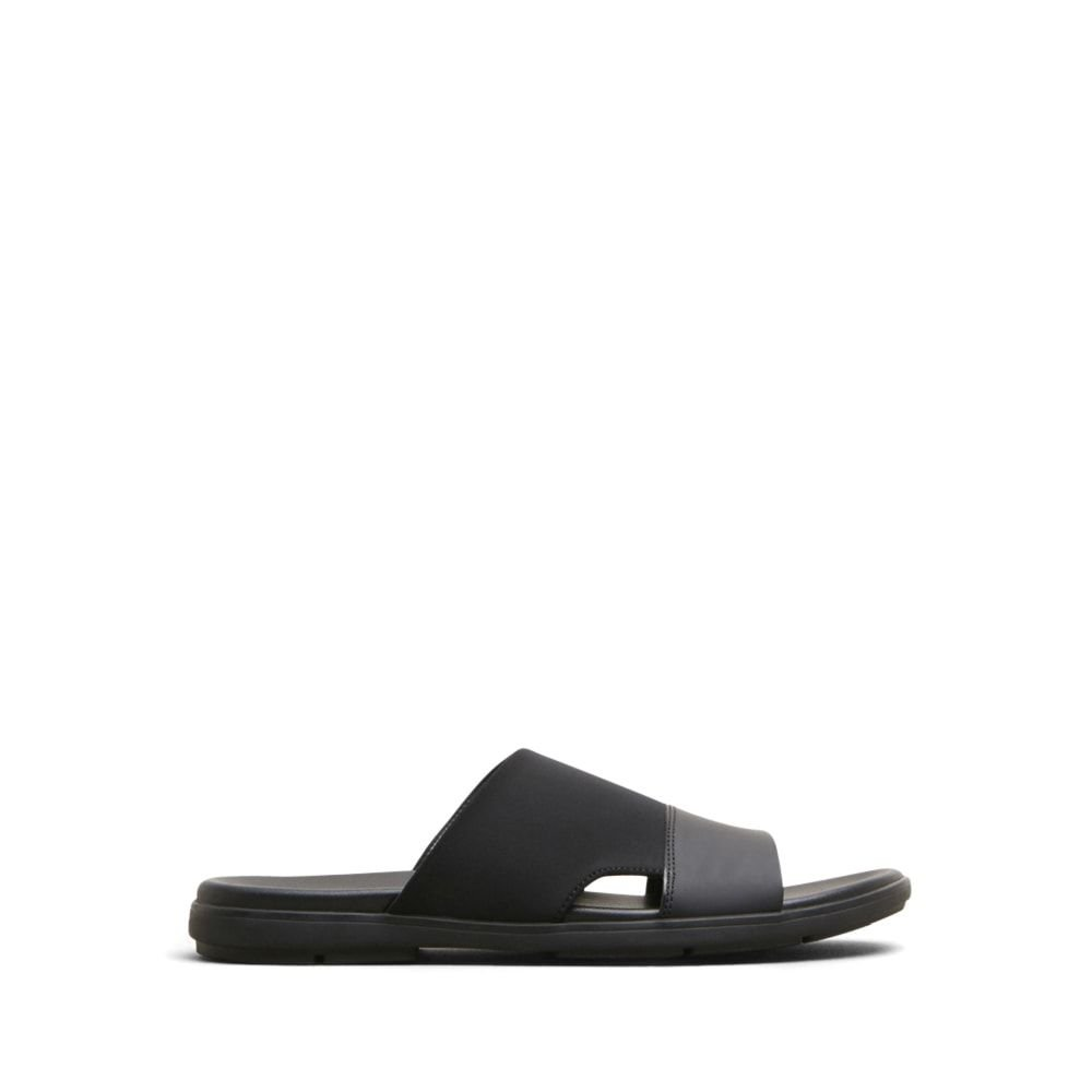 Kenneth Cole New York Men's De-Lite Slide Sandal, Black, 11 M US