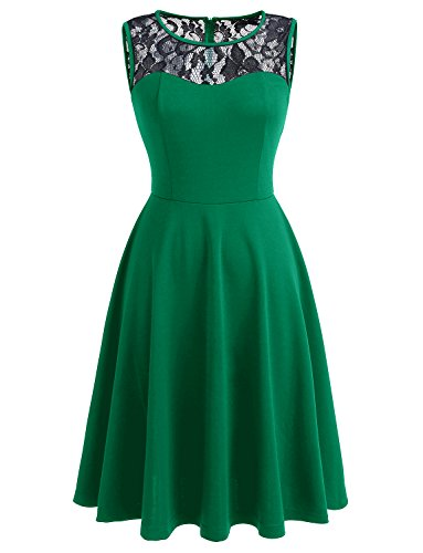 black and green lace dress - 3
